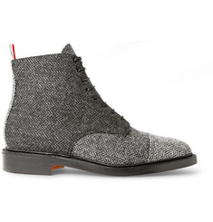 Thom Browne Herringbone Tweed Derby Boots