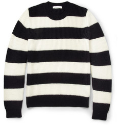Sandro Striped Knitted Crew Neck Sweater