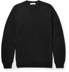 Sandro Zip-Side Knitted-Cotton Sweater