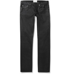 Sandro Slim-Fit Coated-Denim Jeans