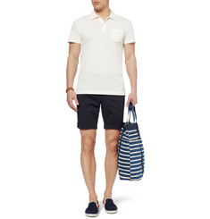 Sunspel Riviera Cotton-Mesh Polo Shirt