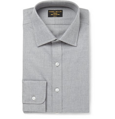 Emma Willis Grey Cotton and Cashmere-Blend Shirt