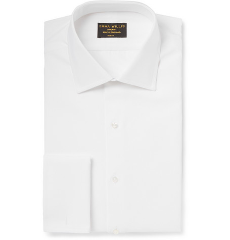 Emma Willis White Cotton-Piqué Marcella Bib Shirt
