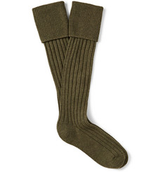 Emma Willis Ribbed Cashmere Shooting Socks