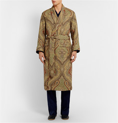 Emma Willis Paisley Woven-Wool Dressing Gown