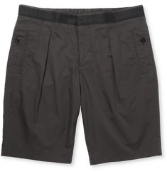 Wooyoungmi Slim-Fit Pleated Cotton Shorts
