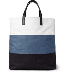 Wooyoungmi Leather-Trimmed Panelled Cotton-Canvas Tote Bag