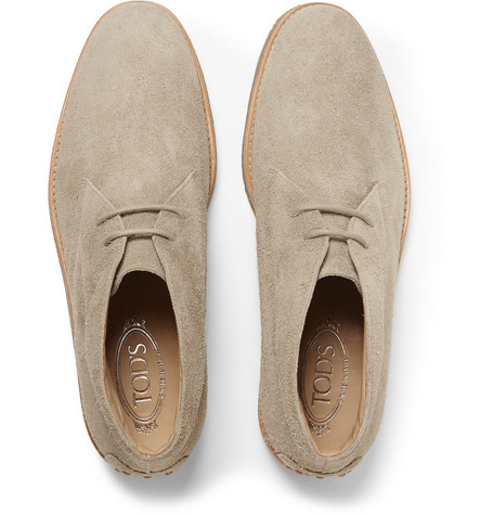 Tod'sCrepe-Sole Distressed-Suede Desert Boots