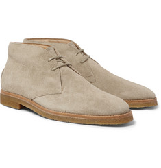 Tod's Crepe-Sole Distressed-Suede Desert Boots