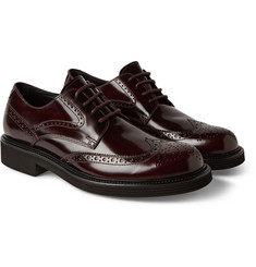 Tod's Burnished Leather Derby Brogues