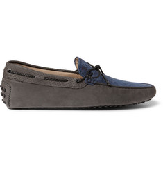 Tod's Gommino Panelled Suede Driving Shoes
