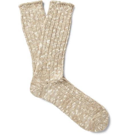 Anonymous Ism Marled Cotton-Blend Socks