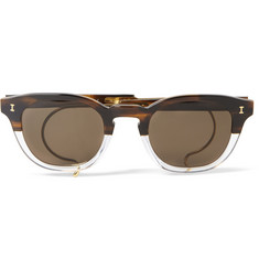Illesteva Square-Frame Two-Tone Acetate and Metal Sunglasses