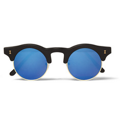 Illesteva Corsica Acetate and Metal Mirrored Sunglasses