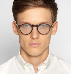 Illesteva Capri Detachable-Front Round-Framed Acetate Glasses