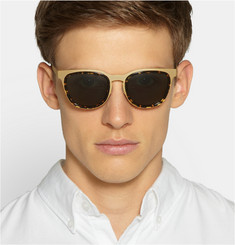 L.G.R Glorioso Coated Stainless Steel and Acetate Sqaure-Frame Sunglasses
