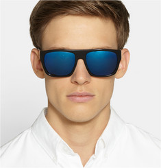 L.G.R Tripoli Mirrored Polarised Square-Frame Acetate Sunglasses