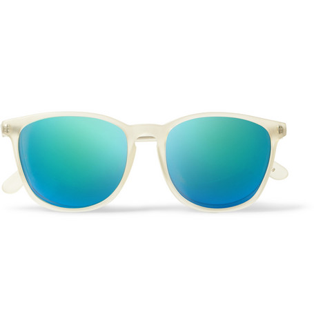L.G.R Nairobi D-Frame Acetate Mirrored Sunglasses