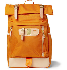 Master-Piece Surpass Leather-Trimmed Nylon Tote Backpack