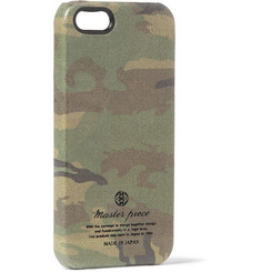Master-Piece Camouflage-Print Leather iPhone 5 Case