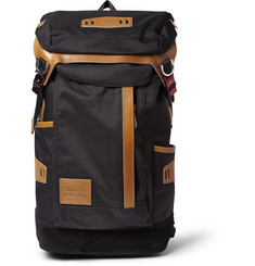 Master-Piece Potential Leather and Suede-Trimmed Nylon Backpack