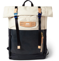 Master-Piece Hedge Leather and Canvas Backpack