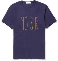Undercover No Sir Printed Cotton-Jersey T-Shirt