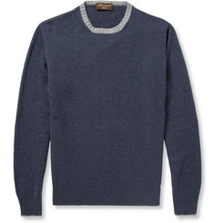 Doriani Suede Elbow-Patch Cashmere Sweater