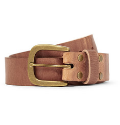 Jean Shop Brown 4cm Oiled Leather Belt