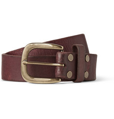 Jean Shop 3.5cm Brown Leather Belt