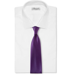 Charvet Diagonally Striped Silk Tie