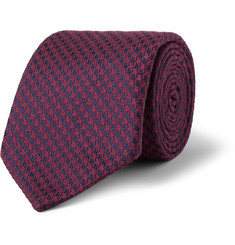 Charvet Houndstooth Silk and Wool-Blend Tie