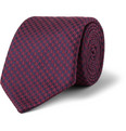 Charvet - Houndstooth Silk and Wool-Blend Tie