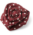 Charvet - Dotted Silk-Faille Lapel Flower