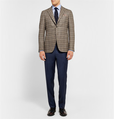 Charvet Blue Houndstooth Cotton Shirt