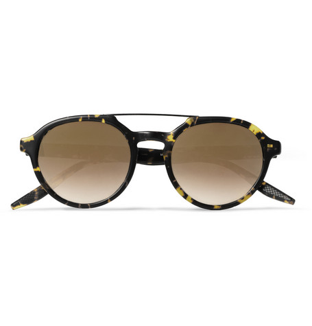 Barton Perreira Bailey Round-Frame Acetate and Metal Sunglasses