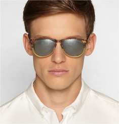 Barton Perreira Mac Two-Tone Matte-Zyl Polarised Sunglasses