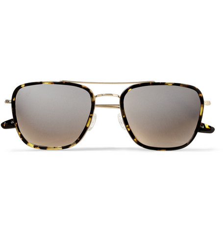 Barton Perreira Collins Square-Frame Acetate and Metal Sunglasses