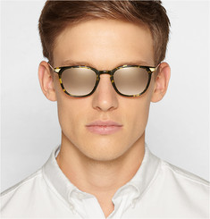Barton Perreira Dean D-Frame Acetate and Metal Sunglasses