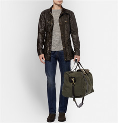 Filson Leather-Trimmed Twill Holdall Bag