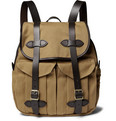Filson - Leather-Trimmed Twill Backpack