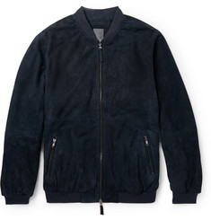 Lot78 Suede Bomber Jacket