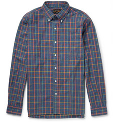 Beams Plus Button-Down Collar Checked Cotton Shirt
