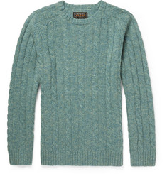 Beams Plus Cable-Knit Wool Sweater