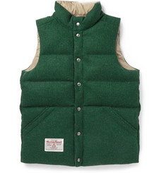 Beams Plus Reversible Quilted Harris Tweed Gilet