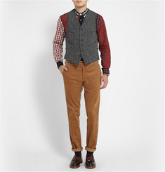 Beams Plus Harris Tweed Waistcoat