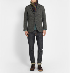 Beams Plus Harris Tweed Herringbone Blazer