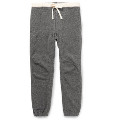 Beams Plus Slim-Fit Canvas-Trimmed Cotton-Blend Sweatpants