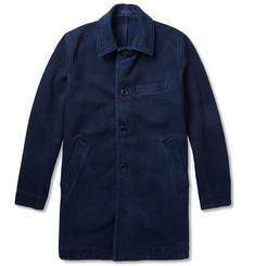 Blue Blue Japan Indigo-Dyed Cotton Coat