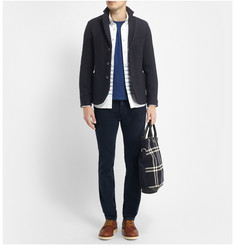 Blue Blue Japan Unstructured Slim-Fit Textured-Knit Wool-Blend Blazer